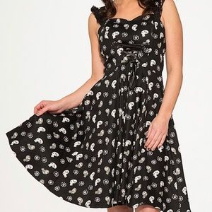 NWT black skull dress